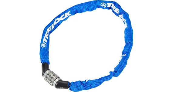 Trelock BC 115 Code Kettenschloss 60 cm blau